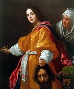 """""""Judith with the Head of Holofernes by Cristofano Allori"""" by Cristofano Allori - Royal Collection. Licensed under Public Domain via Commons - https://commons.wikimedia.org/wiki/File:Judith_with_the_Head_of_Holofernes_by_Cristofano_Allori.jpg#/media/File:Judith_with_the_Head_of_Holofernes_by_Cristofano_Allori.jpg"""